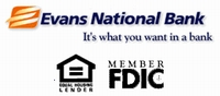 "Evan's National Bank. ""It's what you want in a bank."" Member FDIC"