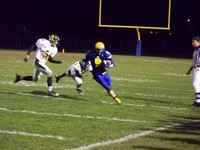 Senior Mark Lorenz runs for a big gain vs Williamsville North