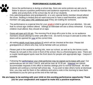 Performance Guidelines