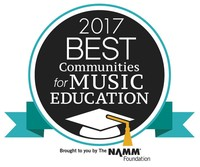 2017 Best Communities for Music Education. Brought to you by the NAMM Foundation