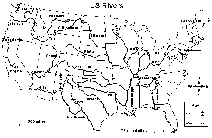 United States rivers mapped
