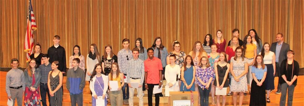Students inducted into National Art Honor Society