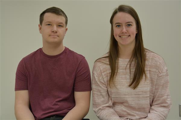 East senior Jake Lambert and West senior Stephanie Dzielinski were inducted into the National Techn